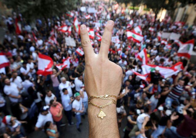 Protestas antigubernamentales en Beirut (archivo)
