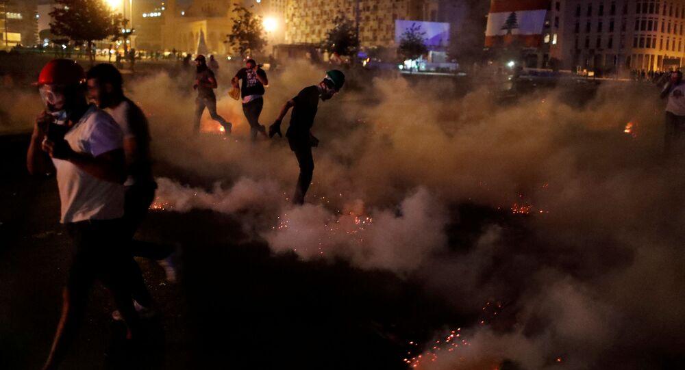 Le proteste a Beirut, l'8 agosto 2020