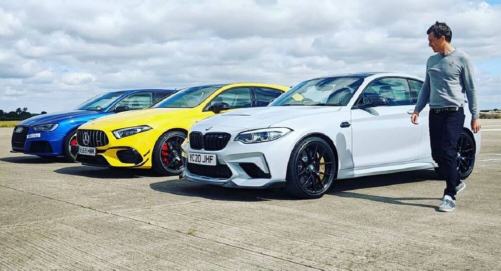La carrera de aceleración entre el BMW M2 CS, el AMG A45 S y el Audi RS3