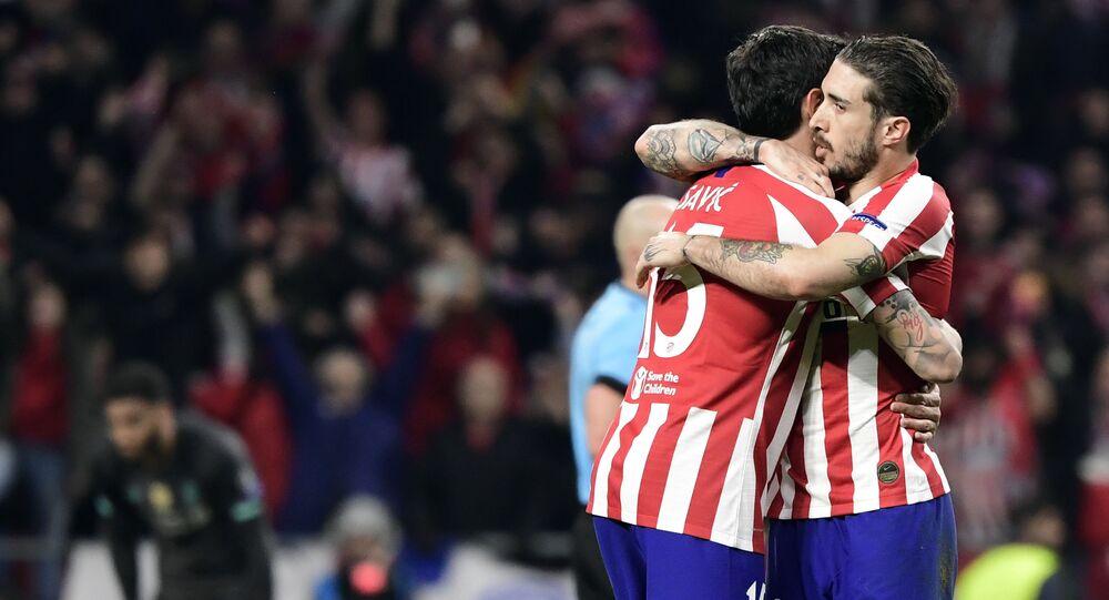 Sime Vrsaljko del Club Atlético de Madrid