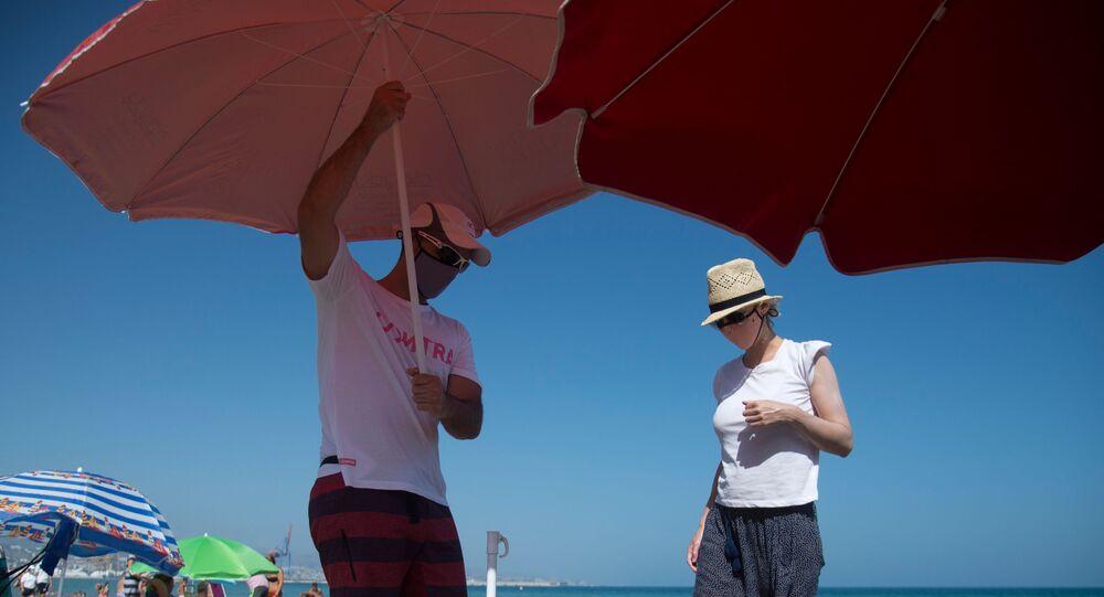 Una spiaggia di Malaga