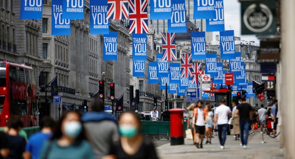 Strada di Londra nel Regno Unito