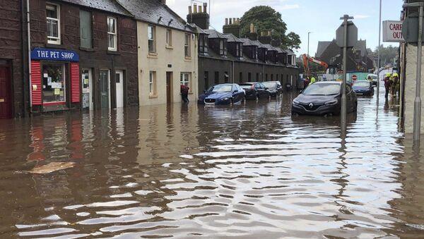 Scozia, inondazione a Stonehaven,mercoledì 12 agosto 2020 - Sputnik Italia