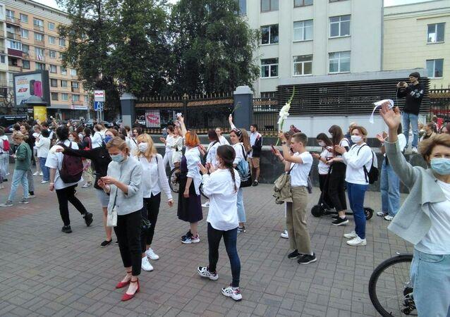 Protesta pacifica a Minsk