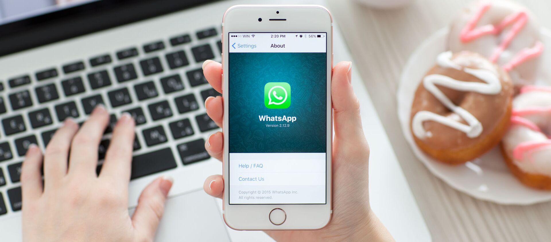 iPhone 6S, Whatsapp sullo schermo - Sputnik Italia, 1920, 18.03.2021
