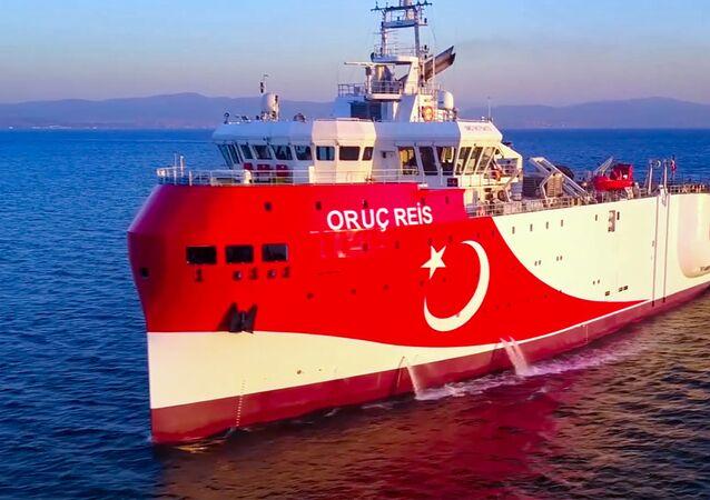 La nave turca 'Oruc Reis'