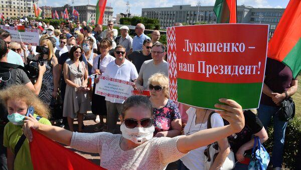 La manifestazione a sostegno di Lukashenko - Sputnik Italia