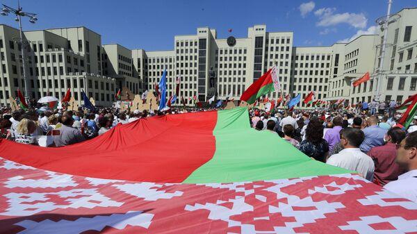 Il comizio a sostegno di Lukashenko a Minsk - Sputnik Italia