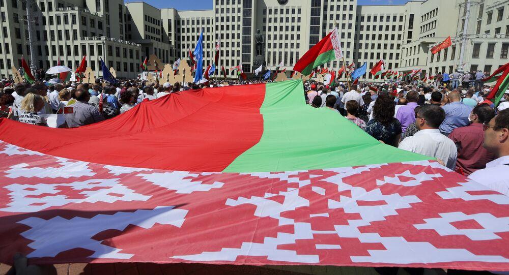 Il comizio a sostegno di Lukashenko a Minsk