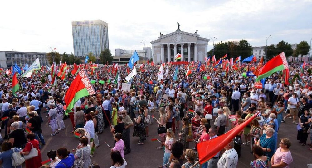 Manifestazione pro-Lukashenko a Mogilev