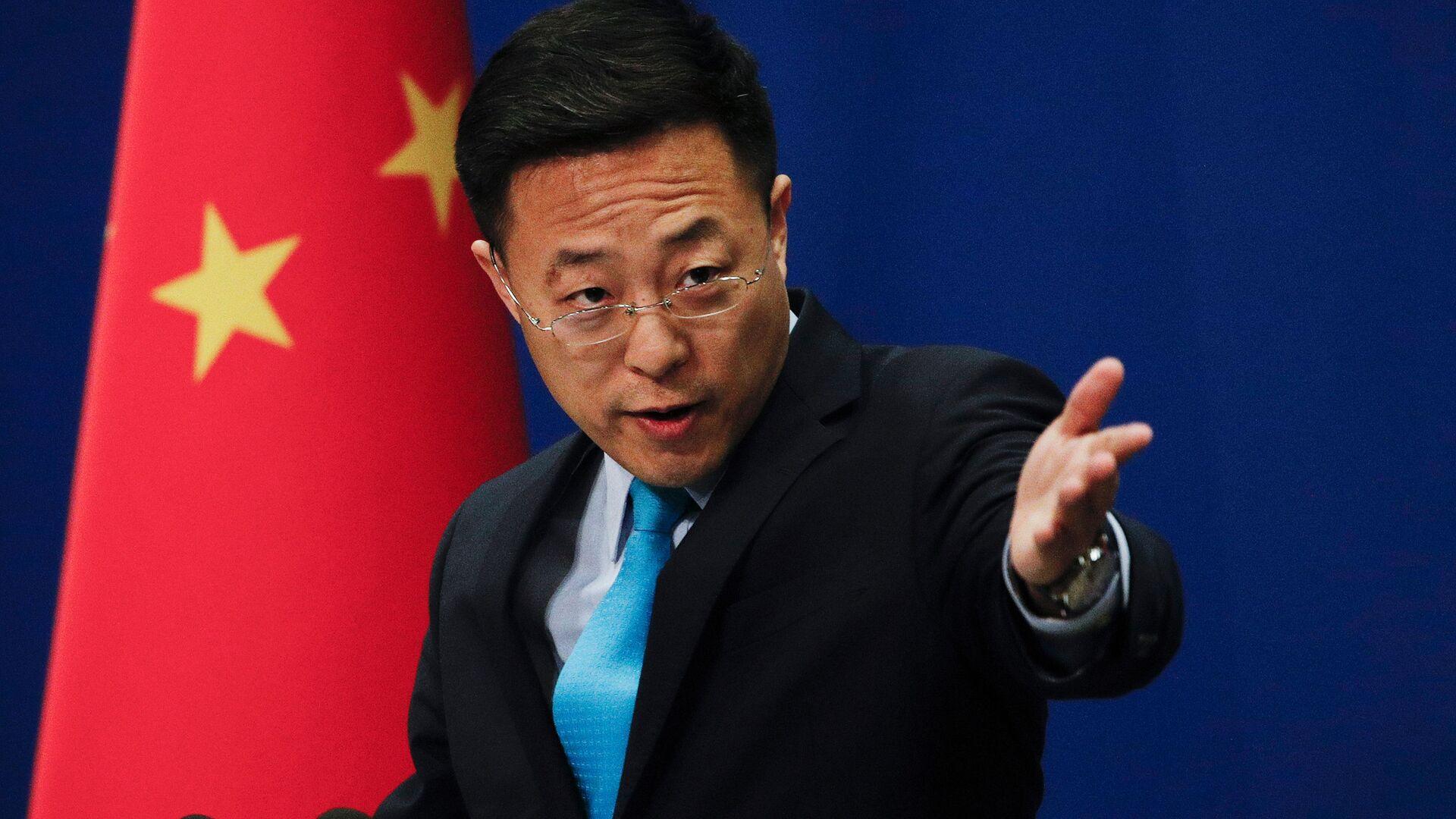 Il portavoce del ministero degli Esteri della Repubblica Popolare Cinese Zhao Lijian - Sputnik Italia, 1920, 17.06.2021