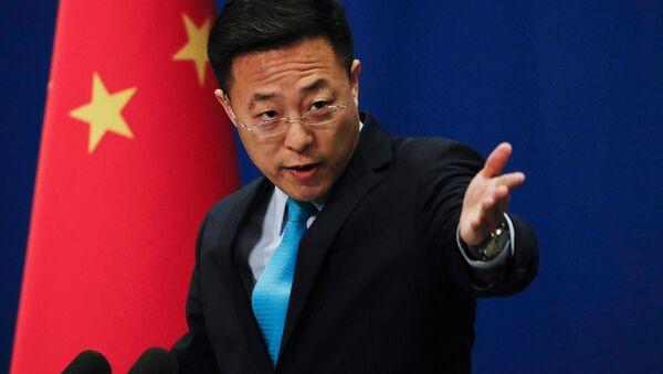 Il portavoce del ministero degli Esteri della Repubblica Popolare Cinese Zhao Lijian - Sputnik Italia