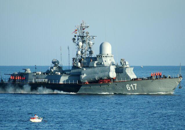 Nave missilistica Mirazh della flotta del Mar Nero (foto d'archivio)