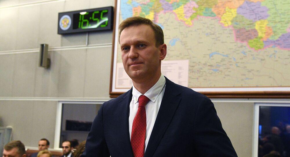 Il blogger e attivista russo Alexei Navalny