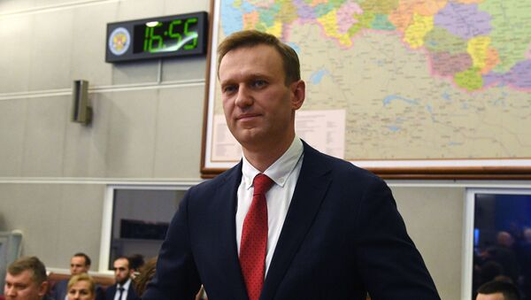 Alexei Navalny at the session of Russia's central election commission on 25 December 2017. Navalny had planned to take part in the 2018 presidential election, but the commission said he was ineligible because of a corruption conviction.  - Sputnik Italia