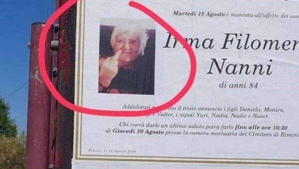 Foto della defunta Irma Nanni diventata virale su Facebook - Sputnik Italia