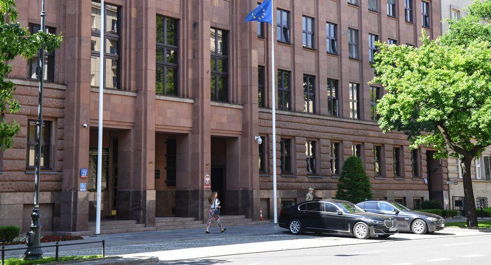 L'edificio del ministero degli Esteri della Polonia