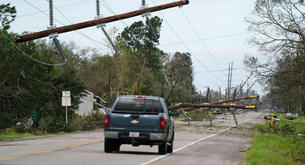 L'uragano Laura