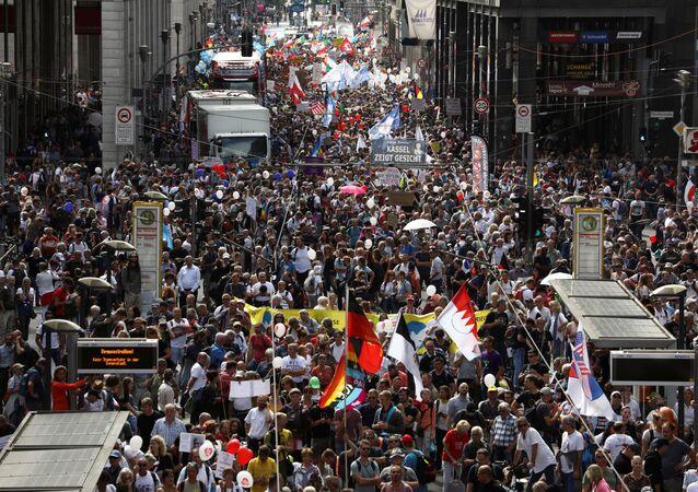 Manifestanti anti-Covid a Berlino