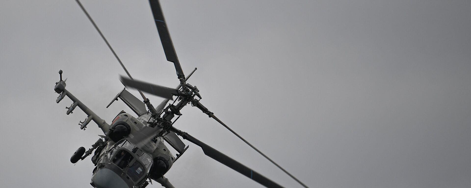 Ударный вертолет Ка-52 Аллигатор выполняет демонстрационный полет в рамках Международного форума Армия-2020 на аэродроме Кубинка в Подмосковье - Sputnik Italia, 1920, 26.08.2021