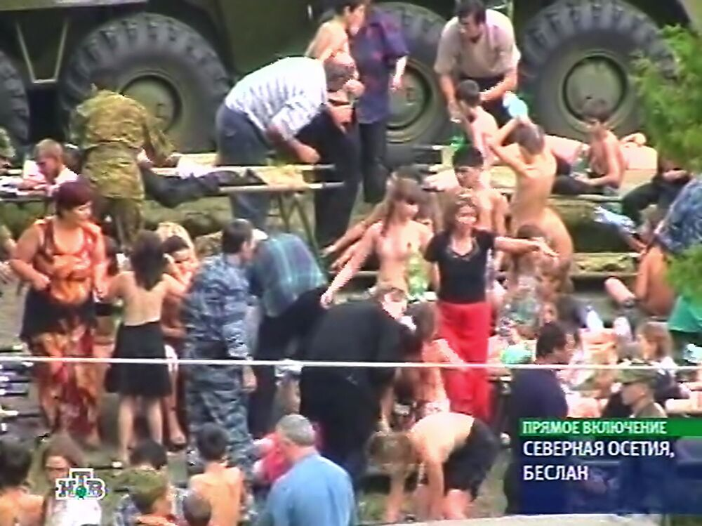La strage di Beslan nella repubblica dell'Ossezia del Nord, Russia