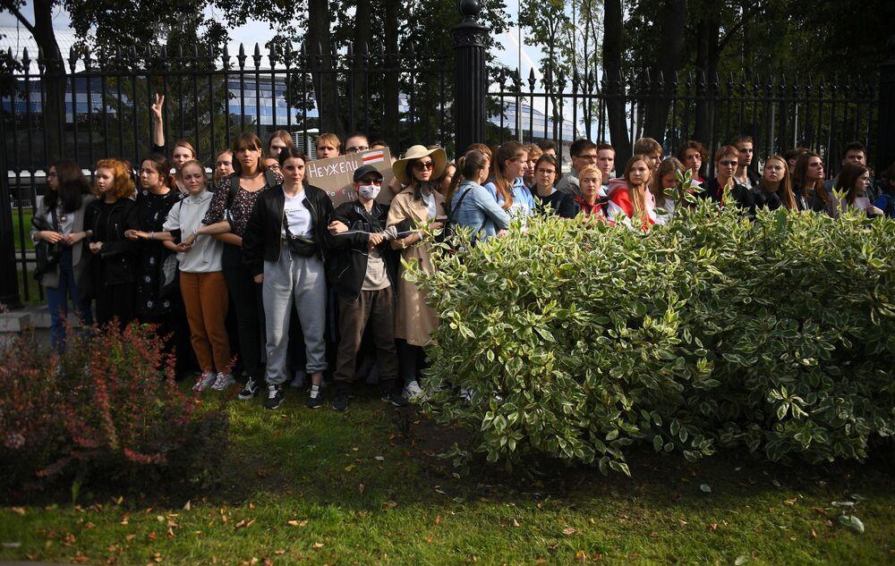 La protesta degli studenti di diverse università bielorusse