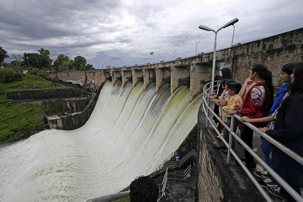 La diga di Rawal a Islamabad, Pakistan il 31 agosto 2020