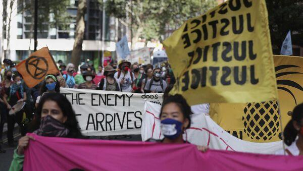 Manifestazione di Extinction Rebellion a Londra, venerdì 4 settembre, 2020. - Sputnik Italia