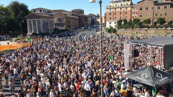 Manifestazione No Mask - Roma, 5 settembre 2020 - Sputnik Italia