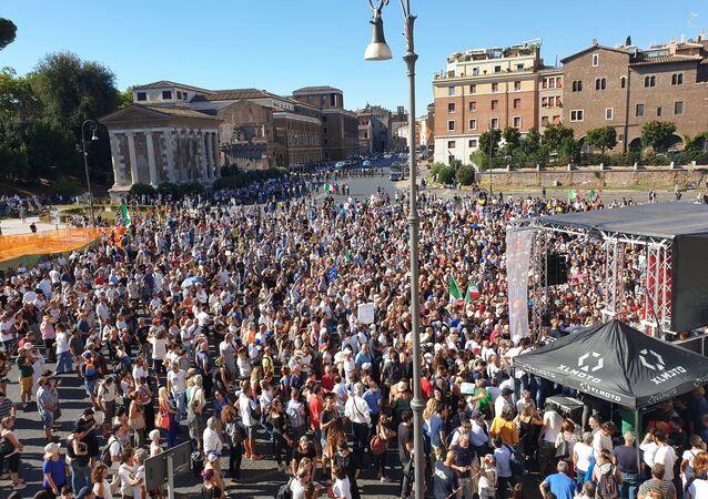 Manifestazione No Mask - Roma, 5 settembre 2020