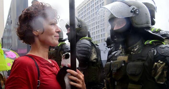 Manifestazione dell'opposizione a Minsk del 6 settembre