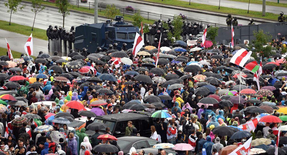 Manifestazione dell'opposizione a Minsk
