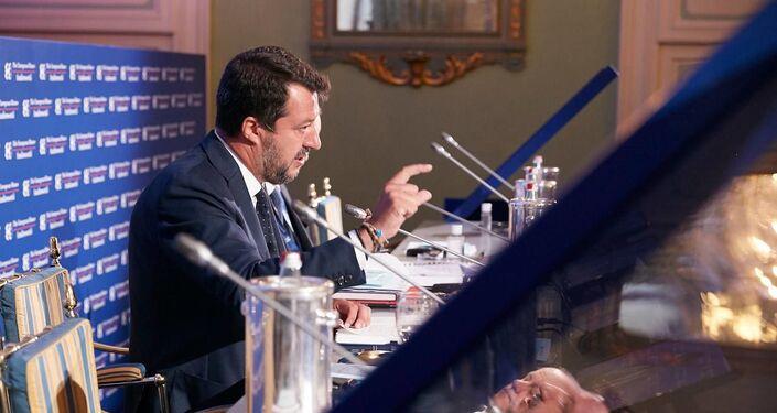 Matteo Salvini al forum The European House - Ambrosetti a Cernobbio