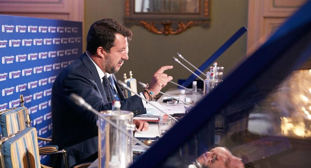 Matteo Salvini al forum The European House - Ambrosetti a Cernobbio
