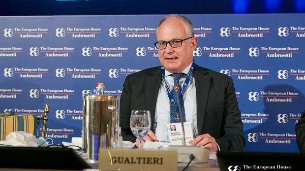 Il ministro Gualtieri al forum The European House - Ambrosetti a Cernobbio - Sputnik Italia