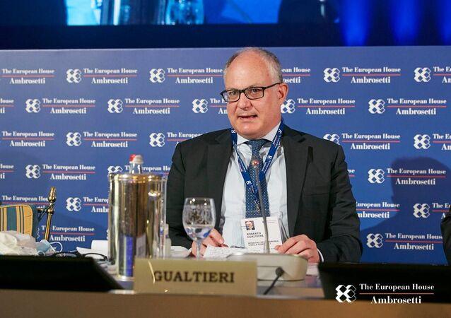 Il ministro Gualtieri al forum The European House - Ambrosetti a Cernobbio