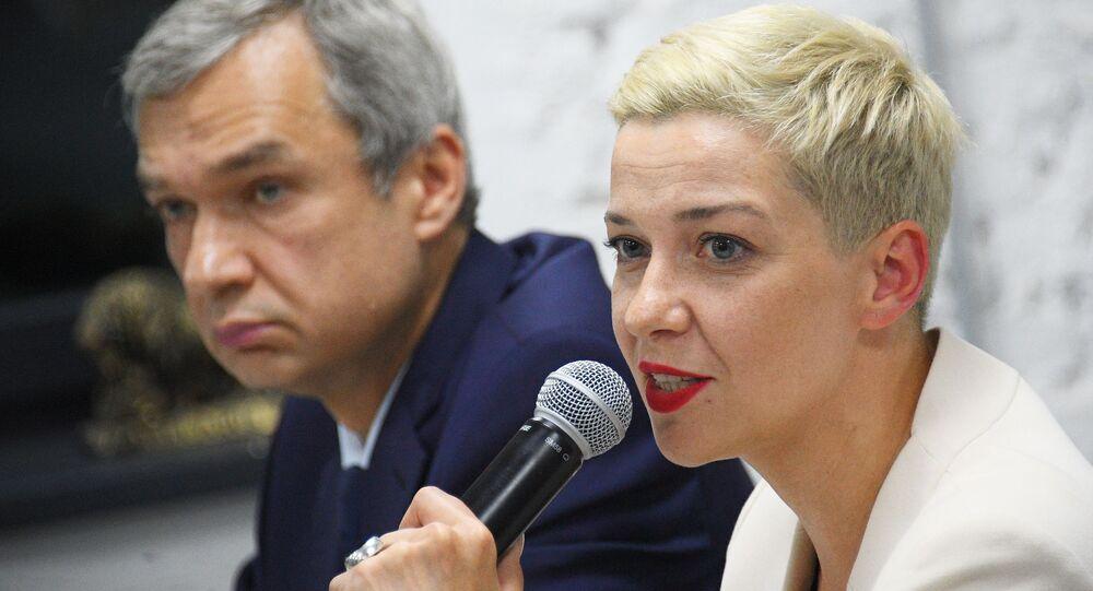 Belarusian opposition politician Maria Kolesnikova in Minsk