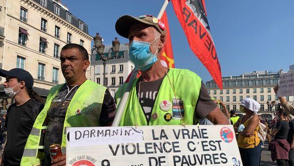 Manifestazione dei Gilet gialli il 12 settembre 2020 a Parigi - Sputnik Italia