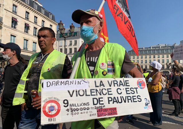 Manifestation des Gilets jaunes le 12 septembre 2020 à Paris