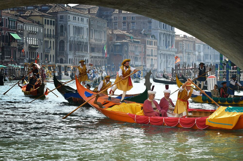 La Regata Storica a Venezia.