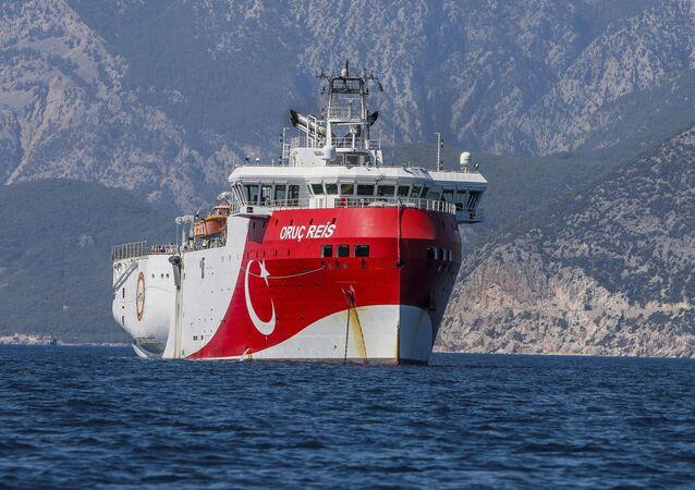 La nave di ricerca turca Oruc Reis