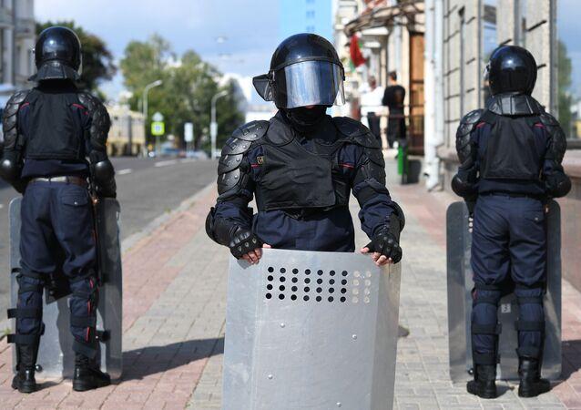 Polizia a Minsk (foto d'archivio)