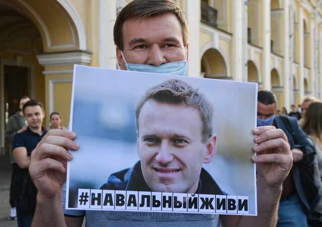 Manifestazione a sostegno di Alexey Navalny