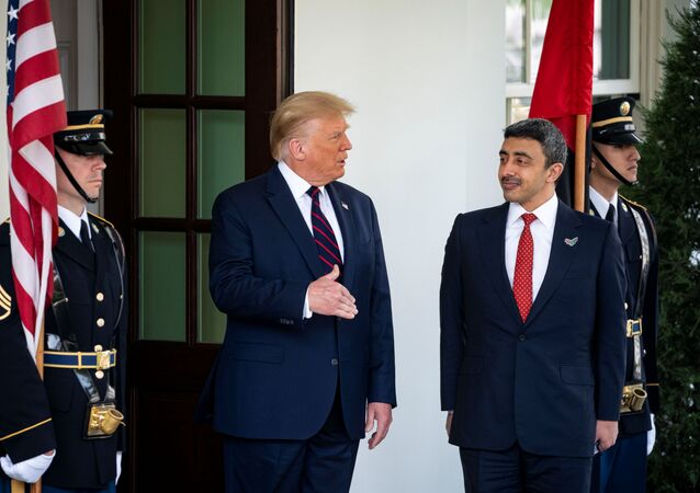 Donald Trump e Abdullah bin Zayed Al Nahyan