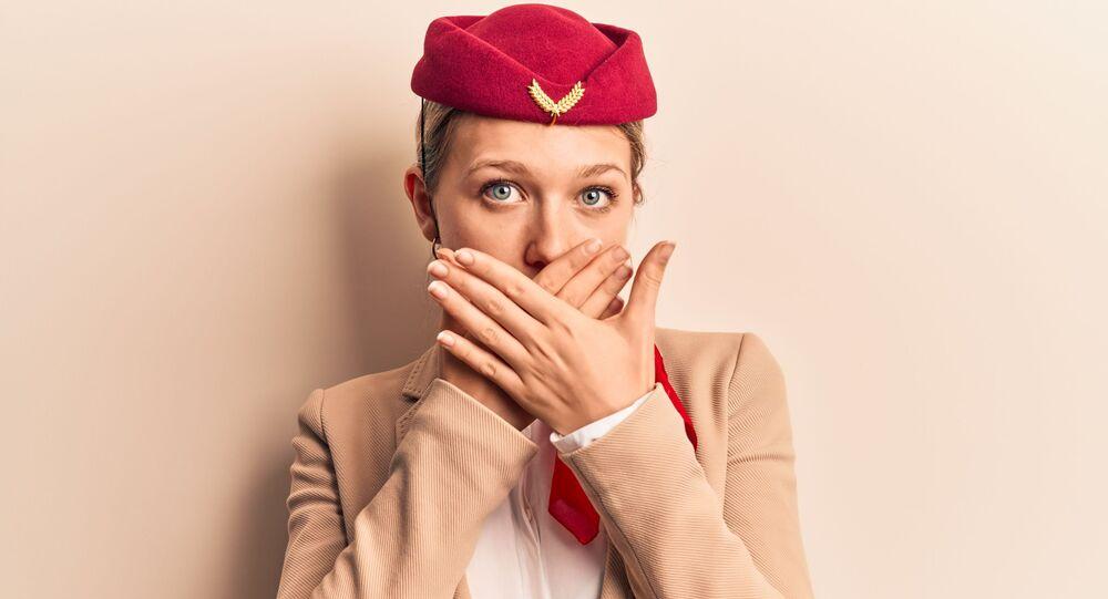 un'assistente di volo