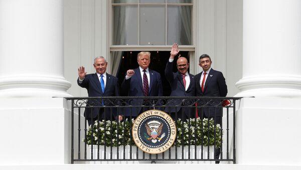 Alla Casa Bianca la firma dello storico accordo di pace tra Israele, Emirati Arabi e Bahrein - Sputnik Italia