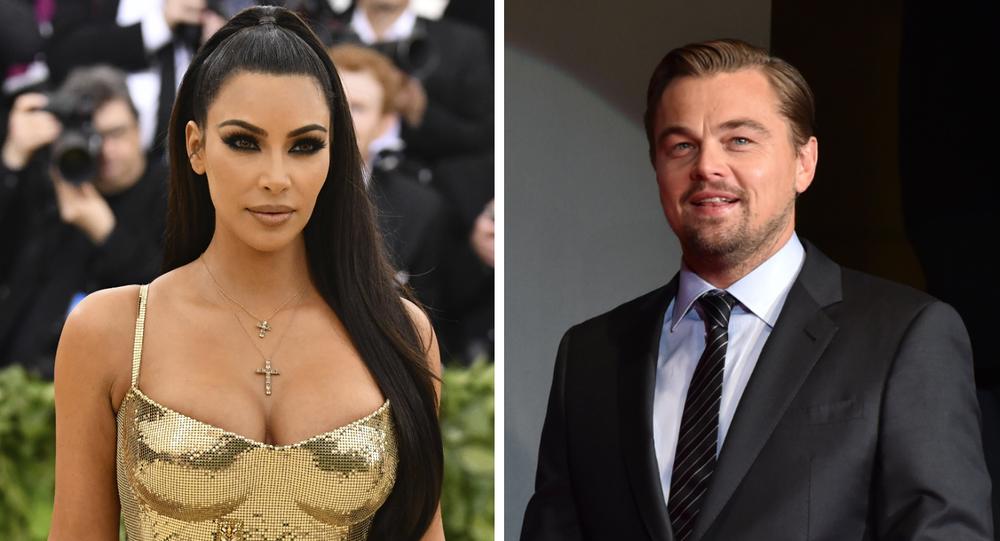 Kim Kardashian e Leonardo DiCaprio