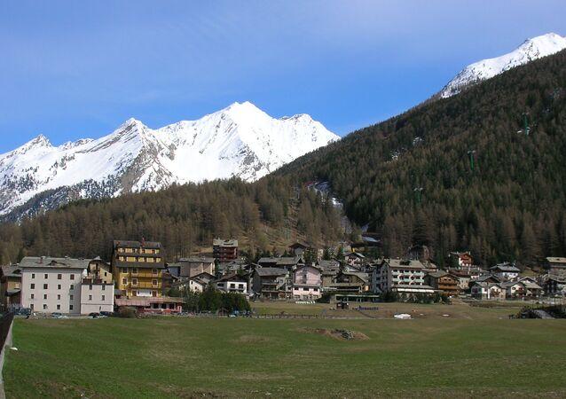 Panorama Cogne, Valle d'Aosta, Italia