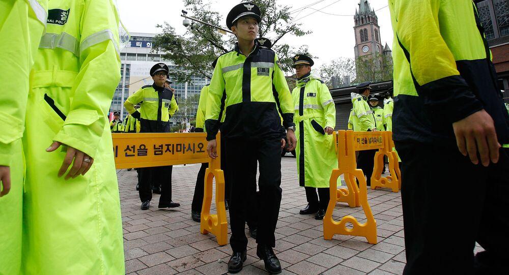 Polizia Corea del Sud
