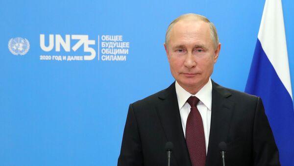 Vladimir Putin durante l'Assemblea Generale dell'ONU - Sputnik Italia